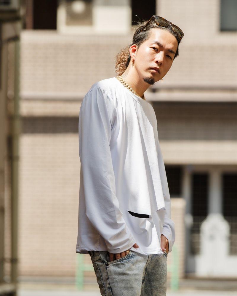 《2色》ベーシックダメージロングTシャツの画像2